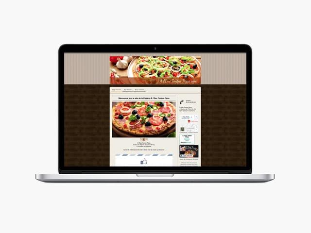 Couverture du site internet A l'Eau Tonton Pizza réalisé