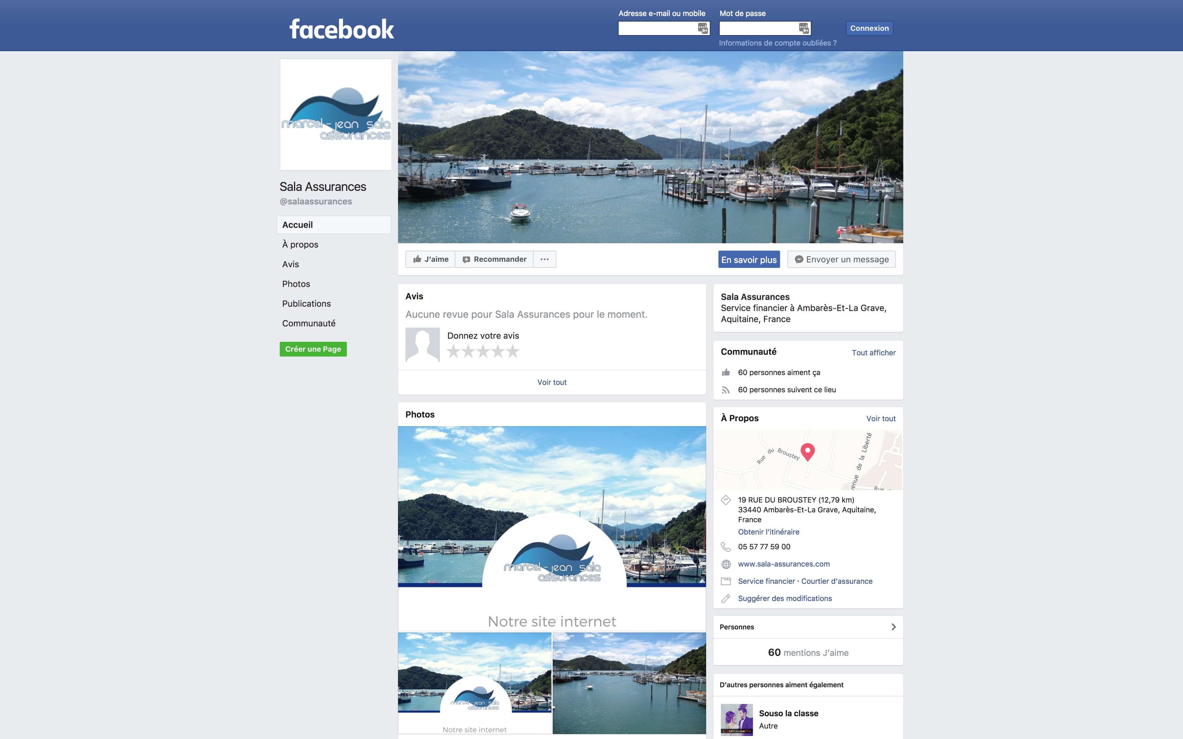 facebook sala assurances