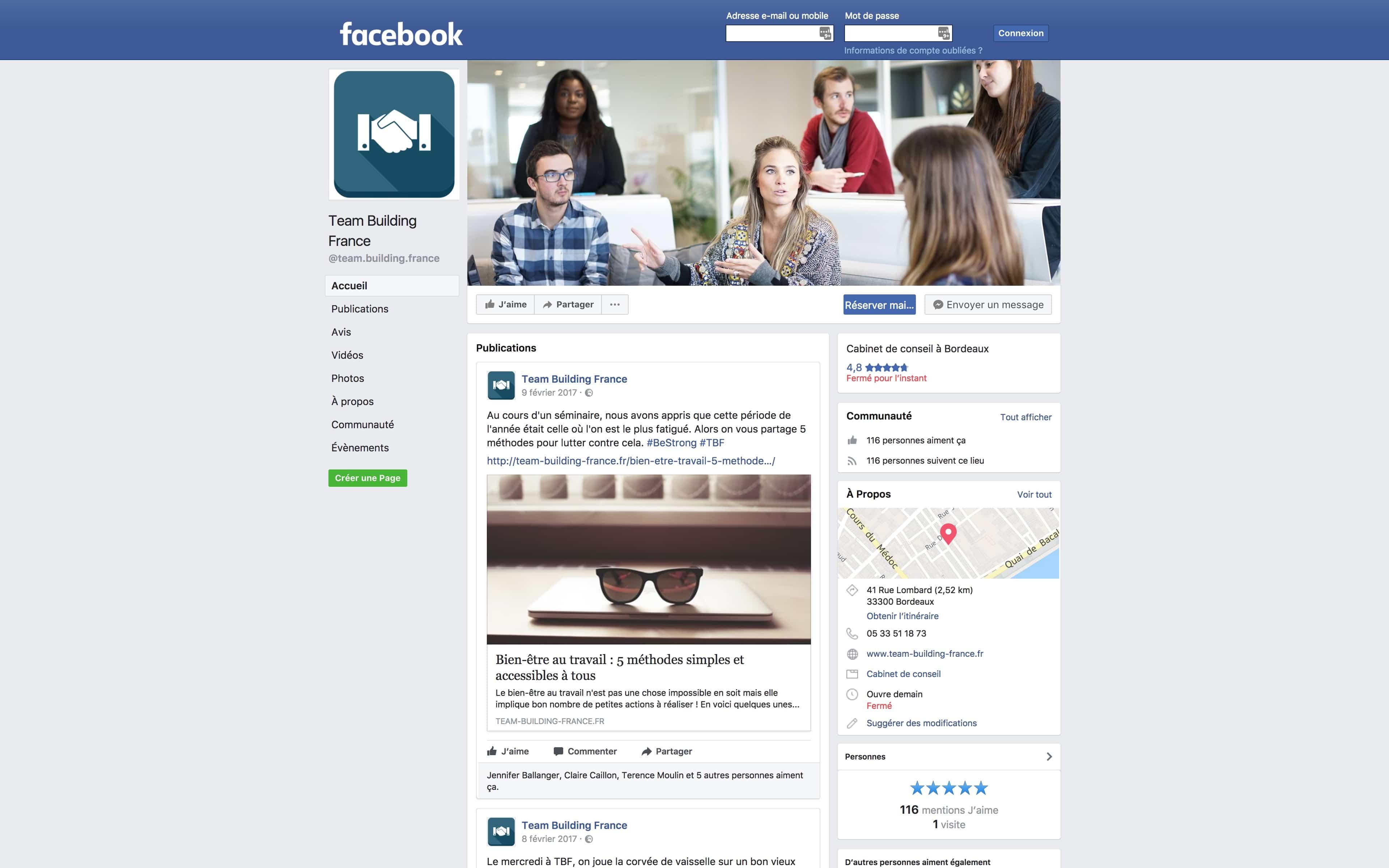 facebook team building france