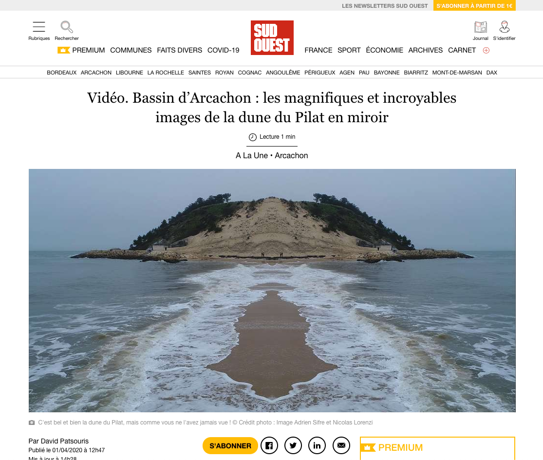 Article_Sud_Ouest_Dune_du_pilat_Nicolas_Lorenzi